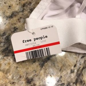 Free People Intimates & Sleepwear - Free People Stop Me Plunge White Bralette Bra